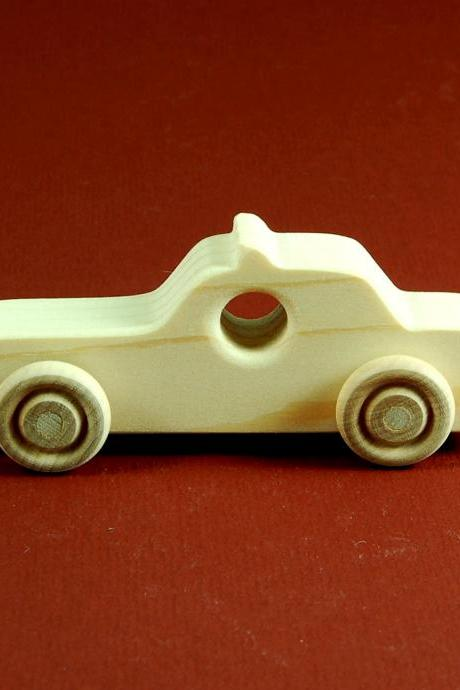 Police Car Party Favors - Package of 10 Wood Toy Race Cars