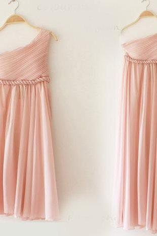 3 Colors Greek Goddess Elegant Dress Nude pink Gown/ Bridesmaid Dress/ Long Dress