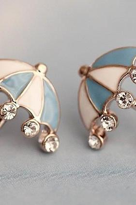 Studded Umbrella Earring