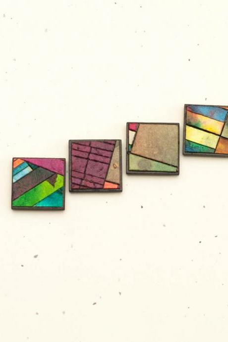 Quilt Magnets Handmade Paper
