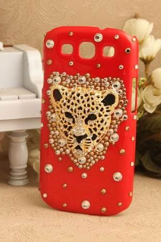 S5Q Bling Crystal Leopard Case Cover Back Skin Protector For Samsung Galaxy S3 I9300 AAACII