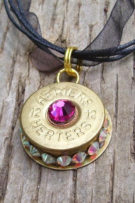 Shotgun Shell Pendant Hot Pink