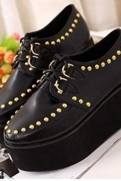 Spring Fall 2014 Harajuku Creepers Platform Rivet Shoes