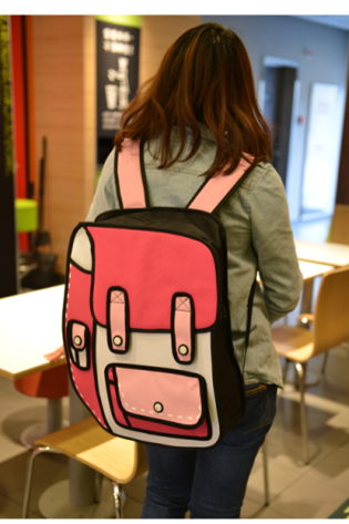 The Most Cute 3D Cartoon Backpack In Pink Color