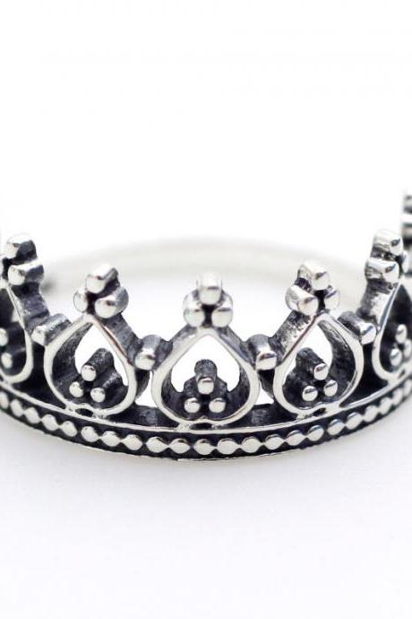 925 sterling silver Princesses Tiara Ring
