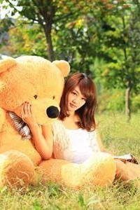 Cotton Light Brown Giant 100cm Cute Plush Teddy Bear Huge Soft TOY
