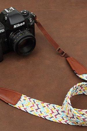 Holiday gift /Camera Strap woven Camera Strap DSLR Camera Strap SLR Camera Strap
