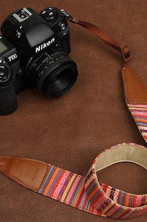 Bohemian series SLR Camera Strap Canon/Nikon Camera Strap DSLR Camera Strap---stripes