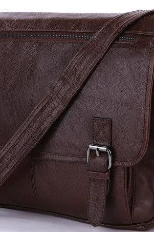Vintage Handmade Leather Messenger Bag Brown Leather Briefcase Mens Messenger Bag IPAD Messenger Bags