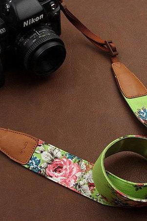 Bright Flower Camera Strap SLR Camera Strap DSLR Camera Strap