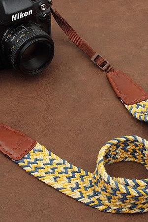 Camera Strap Universal Camera Strap DSLR Camera Strap SLR Camera Strap---Bright yellow