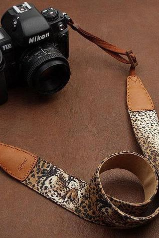 Leopard Camera Strap Camera Strap Denim Camera Strap DSLR Camera Strap
