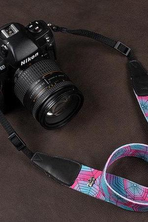 Camera Strap DSLR Camera Strap Denim Camera Strap SLR Camera Strap---Color cobwebs