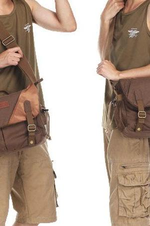 Coffee Camera Bag Canvas Camera Bags Camera Messenger Bag Camera Crossbody Bags