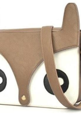 Fox Satchel Bag (brown / pink / mint)