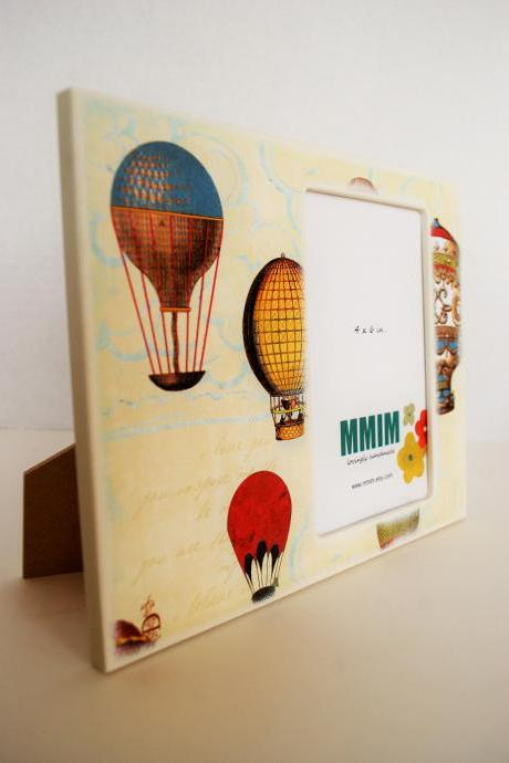 That Vintage Love 4 x 6 Picture Frame - Hot Air Balloon Picture Frame - Limited Quantity
