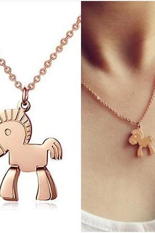 Small Trojan pendant necklace
