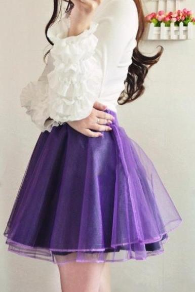 Organza high waist skirt 4 colors