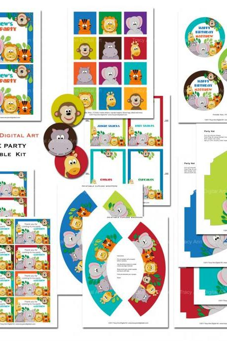 Jungle Party Printable Set