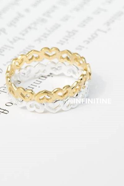 mini heart wrapped ring,adjustable ring,stretch ring,heart ring,men ring,cool rings,couple rings,cute ring,mothers ring,,love midi rings,RN2376