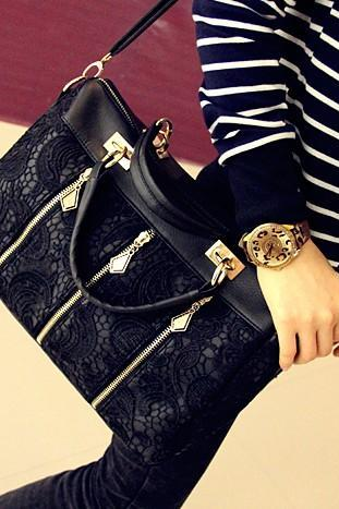 Fashion Lace Retro Handbag Shoulder Bag