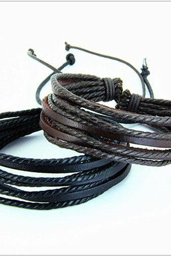Leather bracelet,Men bracelet,fashion bracelet women bracelet,leather cuff,Friendship bracelet