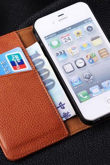 business style iPhone 4 Leather case ,iPhone 4s Leather case Simple style iPhone 4s wallet case , iPhone 4 wallet case, iphone 4s Flip Case, iphone 4 cover