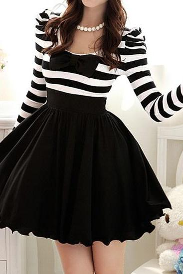Bowtie Neck Dress