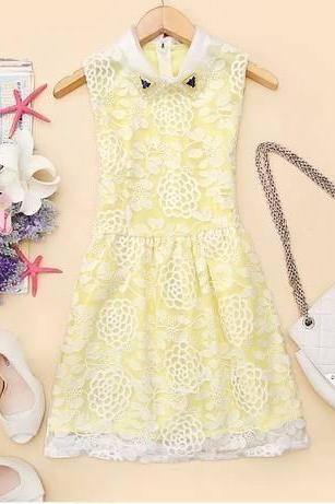 Organza Lace Vest Dress AYa