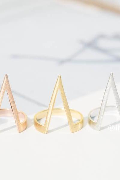 scretch long chevron ring,chevron ring stack,chevron rings,gold chevron rings,stacking rings,stacking ring set,chevron ring sets,chevron jewelry,RN2501