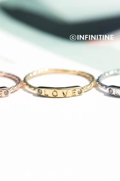 love letter bar ring,womens rings,couple rings,unique rings,friendship ring,girls rings,best friend rings,cute rings,RN2450