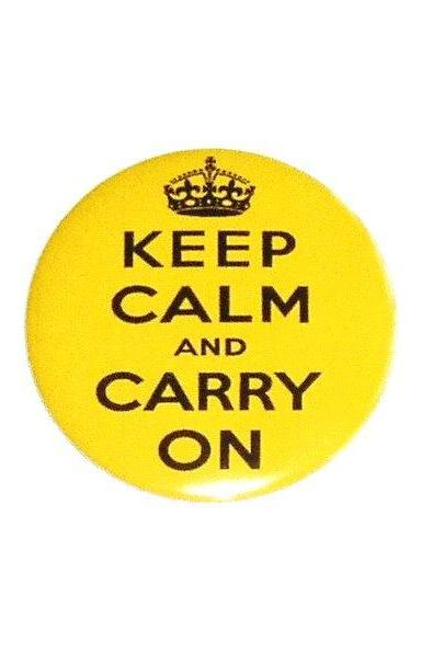 Keep Calm yellow pocket mirror