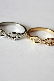 infinity ring, silver infinity ring, gold infinity ring, sterling silver infinity ring, forever ring, love ring