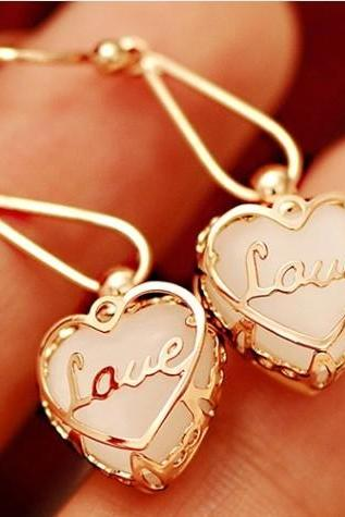 Lovely Heart Love Earrings & stud