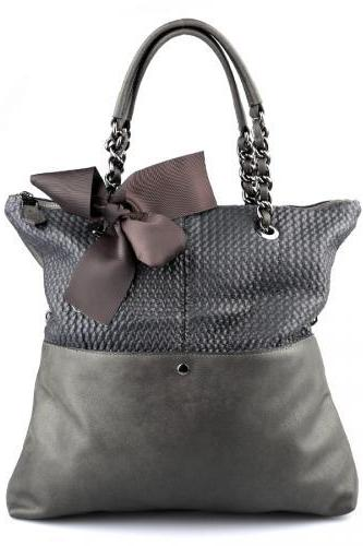 Christmas Gift Grey Tote Handbag. Grey Purse. Large Handbag.
