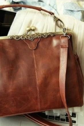 fashion Vintage Hollow Satchel Tote Shoulder Bag & Handbag