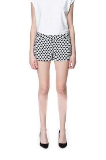 Retro Geometric Figure Diamond Check Shorts
