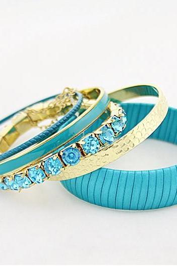 Advanced Diamond Multi-Level Wide Bracelet