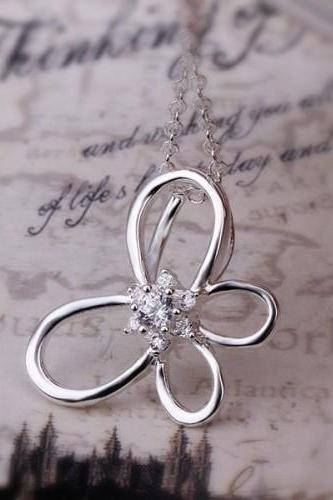 Fashion Necklaces Women Necklace Butterfly Pendant Necklace 37898