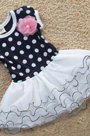 Polka Dots Summer Dress for Girls - Polka Dots Casual Dress for Toddler Girls