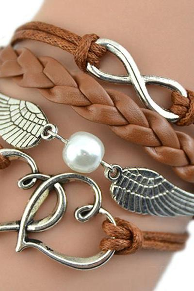 Angel Wings Love Hallows Chain handmade bracelet