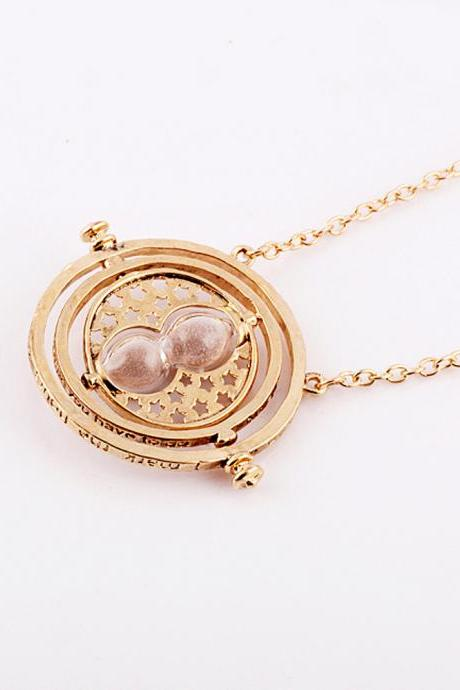 Harry Potter Vintage Style Harry Potter Time Turner Necklace The Golden Snitch Jewelry Popular Antique Gift