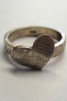 heart ring - rustic - Reduced Shipping Special -