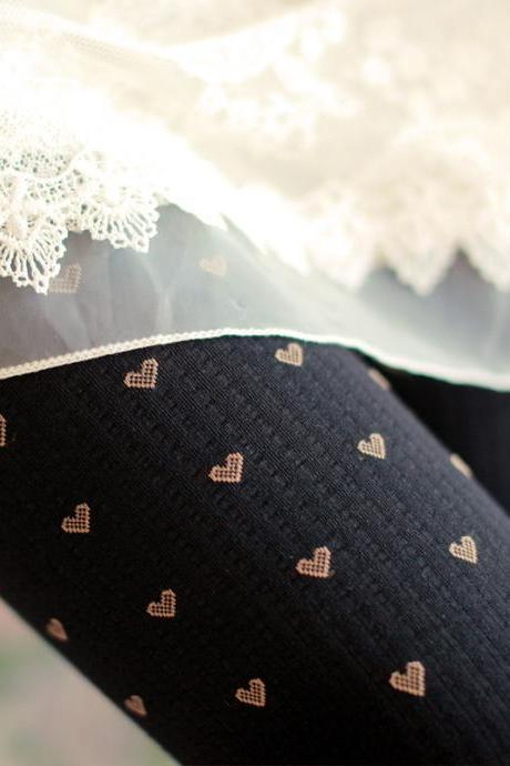 Autumn Little Love Heart Tights