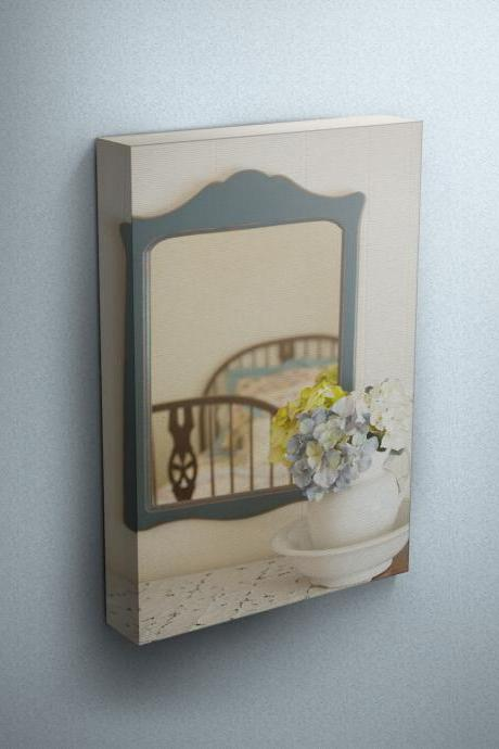 Vintage Bedroom Dresser - Fine Art Photograph on Gallery Wrapped Canvas - 16x12' & more