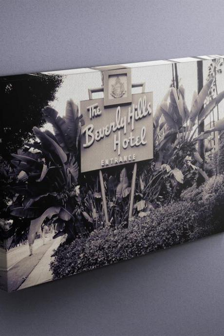 Beverly Hills Hotel - Fine Art Photograph on Gallery Wrapped Canvas - 16x12' & more