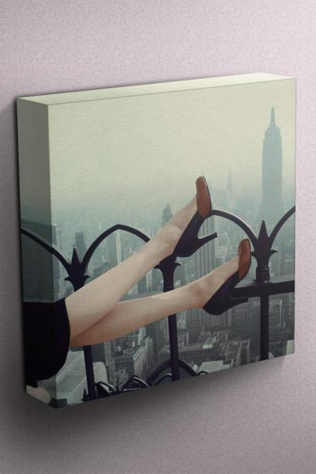 High Heels over Manhattan - Fine Art Photograph on Gallery Wrapped Canvas - 16x12' & more