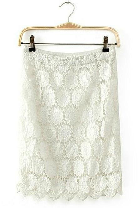 Zipper lace skirts AFAJDB