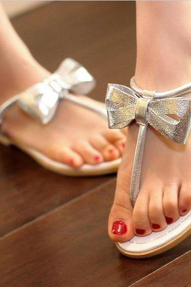 Fashion bow sandals flat bottom SS05101SH