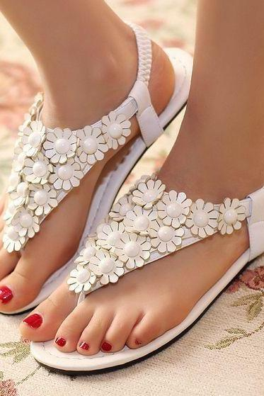 Casual summer sandals flat bottom